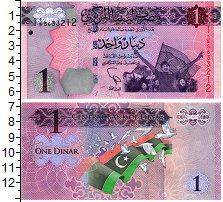 Изображение Банкноты Ливия 1 динар 0  UNC /