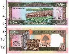 Изображение Банкноты Ливан 500 ливр 0  UNC