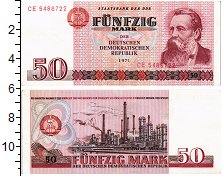 Изображение Банкноты ГДР 50 марок 1971  XF