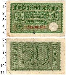 Изображение Банкноты Третий Рейх 50 пфеннигов 1939  XF