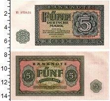Изображение Банкноты ГДР 5 марок 1955  UNC