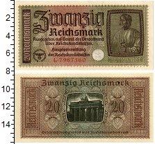 Изображение Банкноты Третий Рейх 20 марок 0  XF+