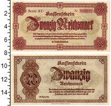 Изображение Банкноты Третий Рейх 20 марок 1945  UNC Нижняя Силезия и Суд