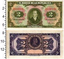 Изображение Банкноты Колумбия 2 песо 1955  XF