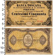 Изображение Банкноты Италия 50 чентезимо 1870  XF Тоскана