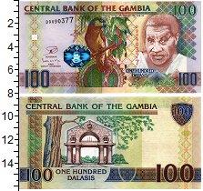 Изображение Банкноты Гамбия 100 даласи 0  UNC Гамбийский пожилой м