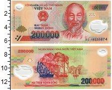 Изображение Банкноты Вьетнам 200000 донг 0 Пластик UNC