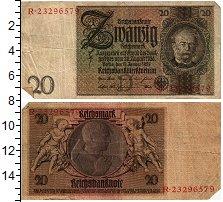 Изображение Банкноты Веймарская республика 20 марок 1929  XF- Вернер фон Сирменс