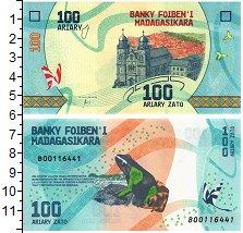 Изображение Банкноты Мадагаскар 100 ариари 2017  UNC
