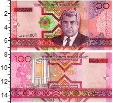 Изображение Банкноты Туркменистан 100 манат 2005  UNC Портрет Сапармурата