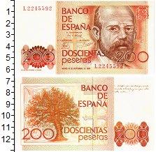 Изображение Банкноты Испания 200 песет 1980  UNC Леопольдо Аллас