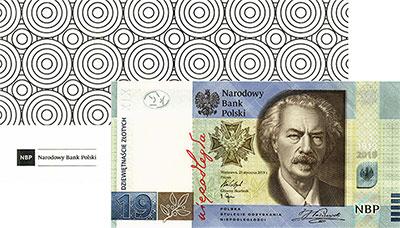 Изображение Банкноты Польша 19 злотых 2019  UNC 100 лет польской охр