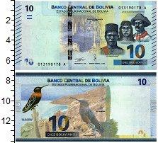 Изображение Банкноты Боливия 10 боливиано 2018  UNC