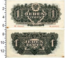 Изображение Банкноты Польша 1 злотый 1944  XF Советские войска