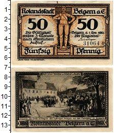 Изображение Банкноты Германия : Нотгельды 50 пфеннигов 1921  UNC- Белгерн