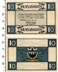 Изображение Банкноты Германия : Нотгельды 10 пфеннигов 1920  UNC- Вильгельмсхафен