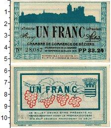 Изображение Банкноты Франция 1 франк 1915  UNC Торговая палата. Без