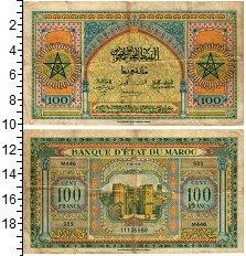 Изображение Банкноты Марокко 100 франков 1944  VF+