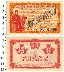 Изображение Банкноты Франция 1 франк 1916  UNC Торговая палата. Пер