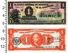 Изображение Банкноты Сальвадор 1 колон 1963  UNC