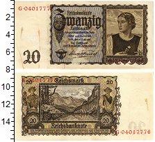 Изображение Банкноты Третий Рейх 20 марок 1939  XF