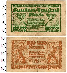 Изображение Банкноты Германия : Нотгельды 100000 марок 1923  VF