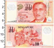 Изображение Банкноты Сингапур 10 долларов 0 Пластик UNC