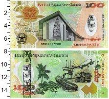 Изображение Банкноты Папуа-Новая Гвинея 100 кин 2008  UNC Парламен, герб (изоб