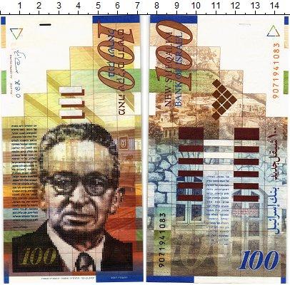 Изображение Банкноты Израиль 100 шекелей 2007  UNC
