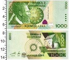 Изображение Банкноты Албания 1000 лек 2001  UNC Портрет Петера Богда