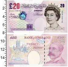 Изображение Банкноты Великобритания 20 фунтов 1999  UNC Портрет королевы Ели