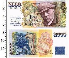 Изображение Банкноты Исландия 2000 крон 1986  UNC