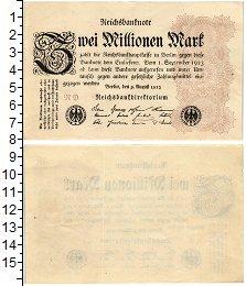 Изображение Банкноты Веймарская республика 2000000 марок 1923  XF+