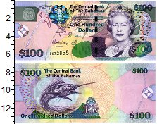 Изображение Банкноты Багамские острова 100 долларов 2000  UNC