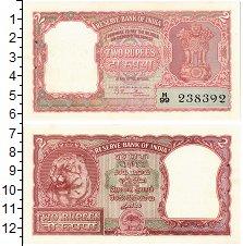 Изображение Банкноты Индия 2 рупии 0  UNC- Выпуск 1949-57 гг. О