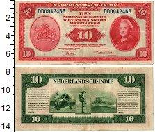 Изображение Банкноты Нидерландская Индия 10 гульденов 1943  XF-
