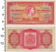 Изображение Банкноты Бермудские острова 10 шиллингов 1957  VF