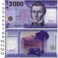 Изображение Банкноты Чили 2000 песо 2009 Пластик UNC