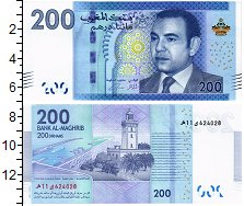 Изображение Банкноты Марокко 200 дирхам 2012  UNC