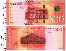 Изображение Банкноты Никарагуа 500 кордоба 2014  UNC