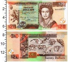Изображение Банкноты Белиз 20 долларов 2017  UNC