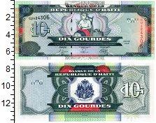 Изображение Банкноты Гаити 10 гурдов 2004  UNC