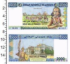 Изображение Банкноты Джибути 2000 франков 0  UNC-