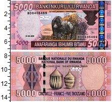 Изображение Банкноты Руанда 5000 франков 2009  UNC