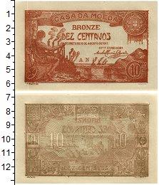 Изображение Банкноты Португалия 10 сентаво 1919  UNC-