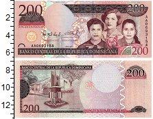 Изображение Банкноты Доминиканская республика 200 песо 2007  UNC