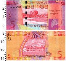 Изображение Банкноты Самоа 5 тала 2008  UNC Океанского побережья