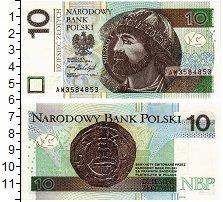 Изображение Банкноты Польша 10 злотых 2016  UNC Мешко I. Первый поль
