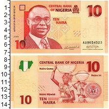 Изображение Банкноты Нигерия 10 найра 2006  UNC
