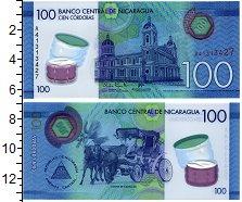Изображение Банкноты Никарагуа 100 кордобас 2014 Пластик UNC